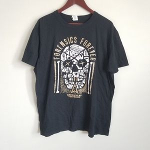 Tops - Awesome Skull Forensics Graphic Tee Shirt Size XL